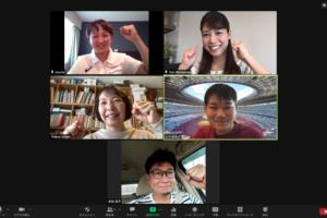 オンラインで行われた円尾敦子のインタビュー。北海道旭川からもファンの声援が届く
