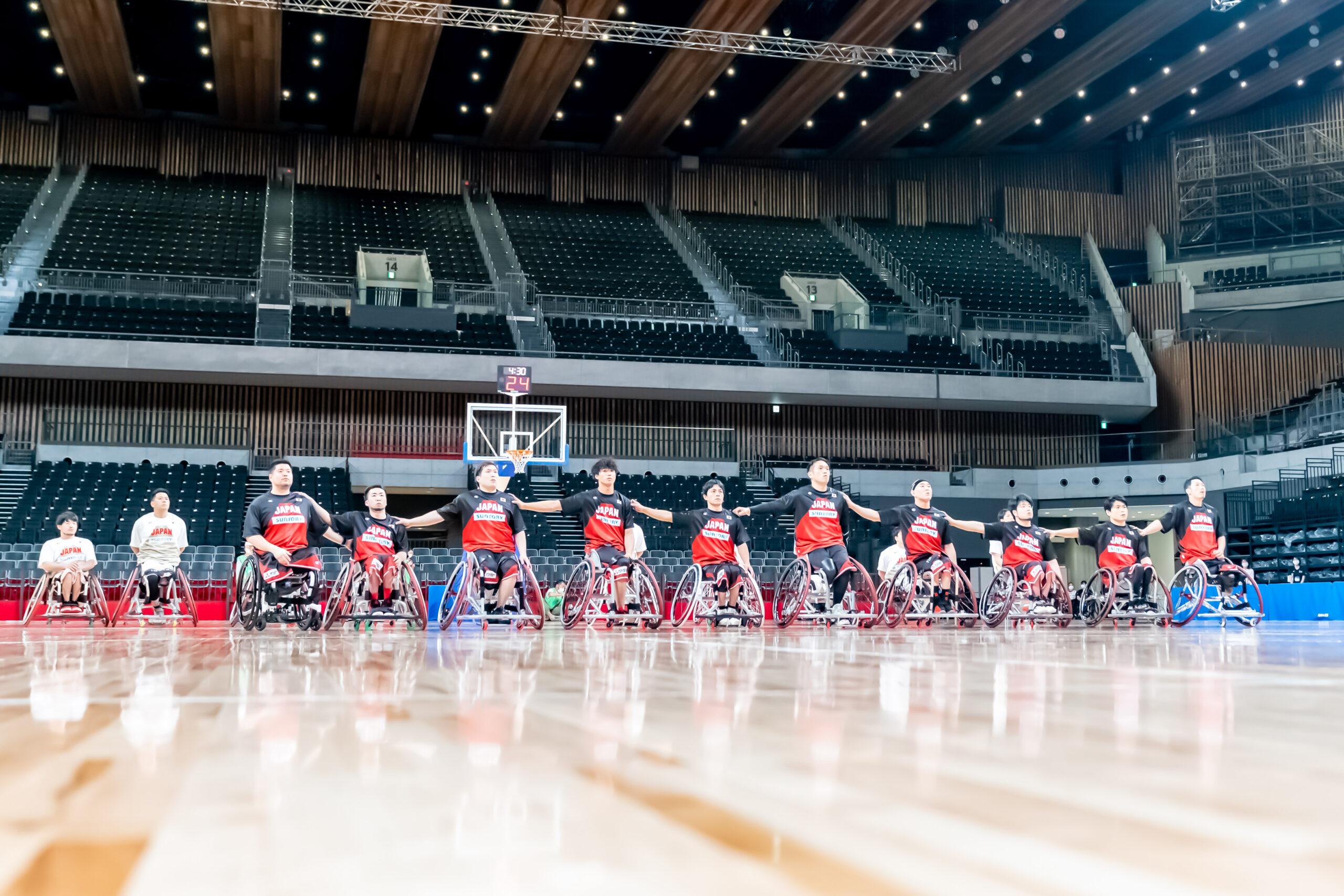 車いすバスケ、パラ本番会場で特別強化試合。1年半ぶりプレー披露