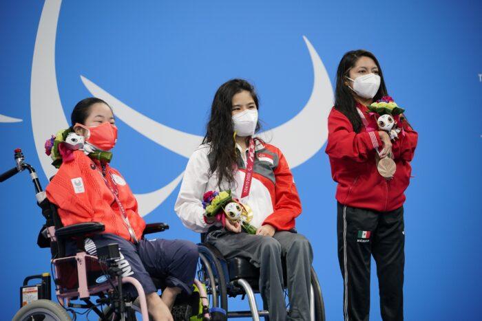 競泳初日、開催国日本は14歳の山田が銀、鈴木は銅。バタフライS14で山口が4位