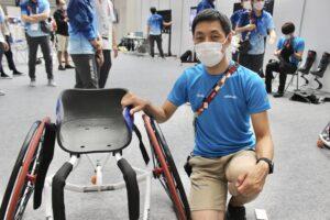 オットーボック・ジャパン車いすエンジニアの中島浩貴さん。母国開催ということもあり、日本からは全国14名の技術者が参加している。(写真・丸山裕理)