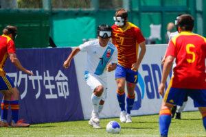 ドリブルでボールを運ぶ田中章仁 2021年ワールドグランプリ ©JBFA/H.Wanibe