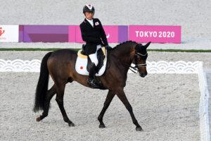 グレードⅡ 宮路満英(鹿児島県出身。セールスフォース・ドットコム/リファイン・エクインアカデミー)は8位(写真 一般社団法人日本障がい者乗馬協会)